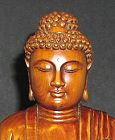Fine vintage carved boxwood Buddha (10 in. tall) - from the Villa Del Prado Light of Asia Collection
