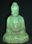 Genuine Jadeite Buddha (5 in. tall) - Chinese Qing Dynasty - from the Villa Del Prado Light of Asia Collection