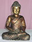 Tibetan Buddha with heavy gilt work - large bronze (15 in. tall) - early 19th C - from the Villa Del Prado Light of Asia Collection